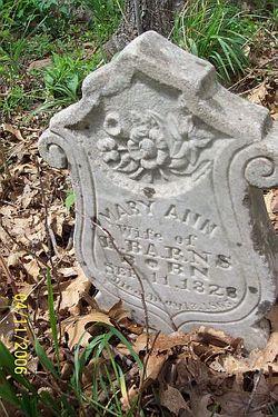 Mary Ann <i>Bohannon</i> Barnes