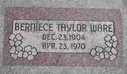 Annie Berniece <i>Taylor</i> Ware