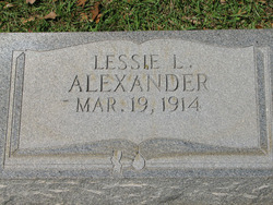 Lessie Lee <i>Robins</i> Alexander
