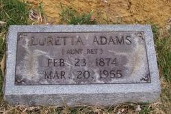 Loretta Aunt Ret Adams