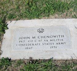 Pvt John M. Chenoweth