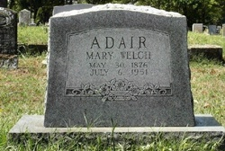 Mary Jane <i>Welch</i> Adair