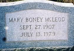 Mary <i>Boney</i> McLeod