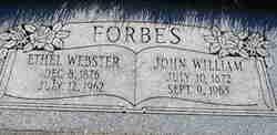 Ethel Louise <i>Webster</i> Forbes