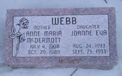 Anne Maria <i>McDermott</i> Webb