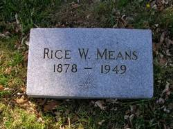 Rice William Means