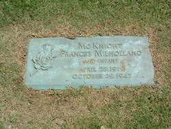 Frances Juanita <i>McKnight</i> Milholland