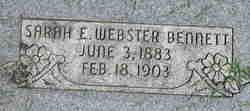 Sarah Elizabeth <i>Webster</i> Bennett
