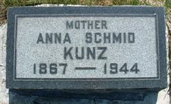 Anna Annie <i>Schmid</i> Kunz