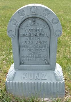 Rosina <i>Knutti</i> Kunz