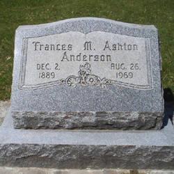 Frances May <i>Burrell Ashton</i> Anderson