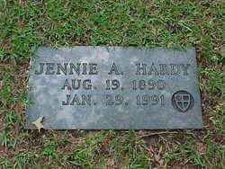 Jennie A. Jane <i>Adams</i> Hardy