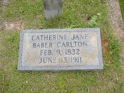 Catherine Jane <i>Baber</i> Carlton