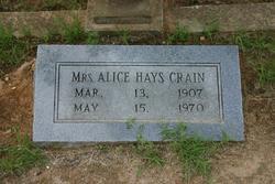 Alice Hays Crain