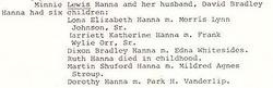 Minnie <i>Lewis</i> Hanna