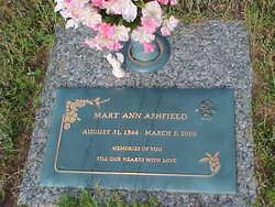 Mary Ann <i>Davis</i> Ashfield