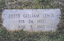Edith <i>Gilliam</i> Lewis