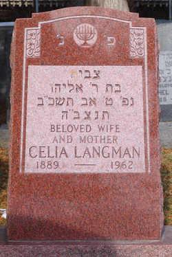 Celia <i>Rabinowitz</i> Langman