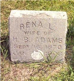 Rena Laura <i>Farrar</i> Adams