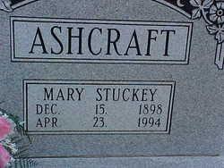 Mary <i>Stuckey</i> Ashcraft