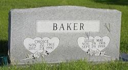Choice B. Baker