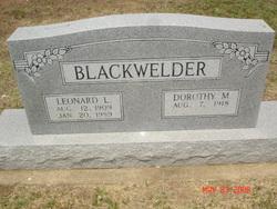 Leonard Leo Blackwelder