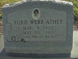 Rubie <i>Webb</i> Athey