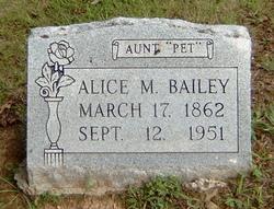 Alice M. <i>Aunt Pet</i> Bailey