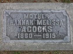 Hannah Melissa <i>Gardner</i> Acocks