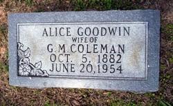 Alice <i>Goodwin</i> Coleman