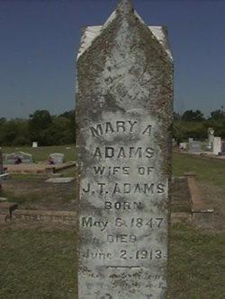 Mary A <i>Hannon</i> Adams
