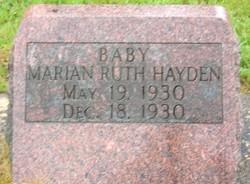 Marian Ruth Hayden