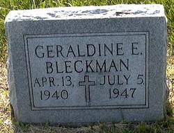 Geraldine Emma Bleckman