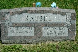 Marion Ray RAEBEL