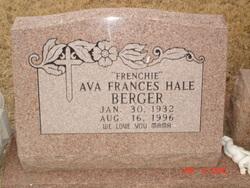 Ava Frances <i>Hale</i> Berger