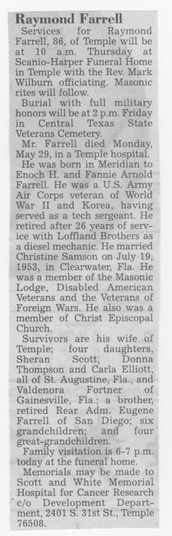 Sgt Raymond Farrell