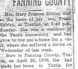 Mary Francis <i>Darst</i> Shirley