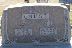 Lillie Jane <i>Garlington</i> Cruse
