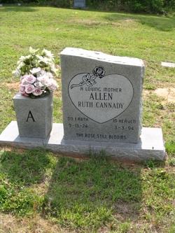 Ruth <i>Cannady</i> Allen