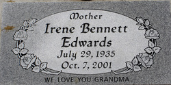 Irene Adams <i>Bennett</i> Edwards