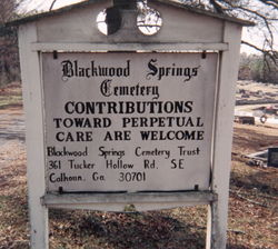 Blackwood Springs Baptist Church Cemetery