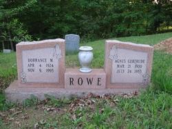 Dorrance M Rowe