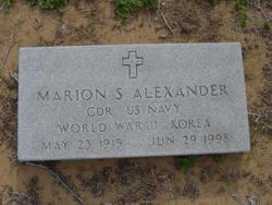 CDR Marion S Alexander