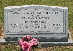 Ann Eliza <i>Williams</i> Boteler