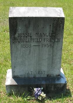 Bessie Natalie <i>Mangum</i> Stubblefield French