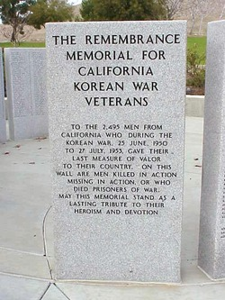 California Korean War Veterans Memorial