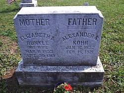 Elizabeth A. <i>Runkle</i> Kohr