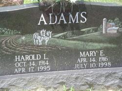Mary E. <i>Guinther</i> Adams