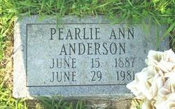 Pearlie Ann Anderson