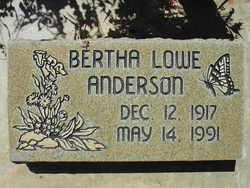 Bertha <i>Lowe</i> Anderson